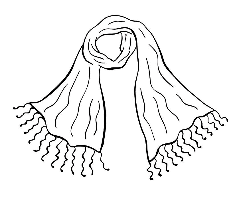 Scarf Clipart Black and White download