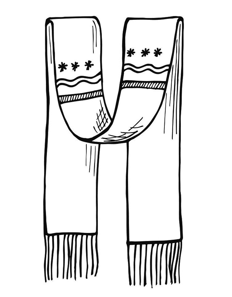 Scarf Clipart Black and White images