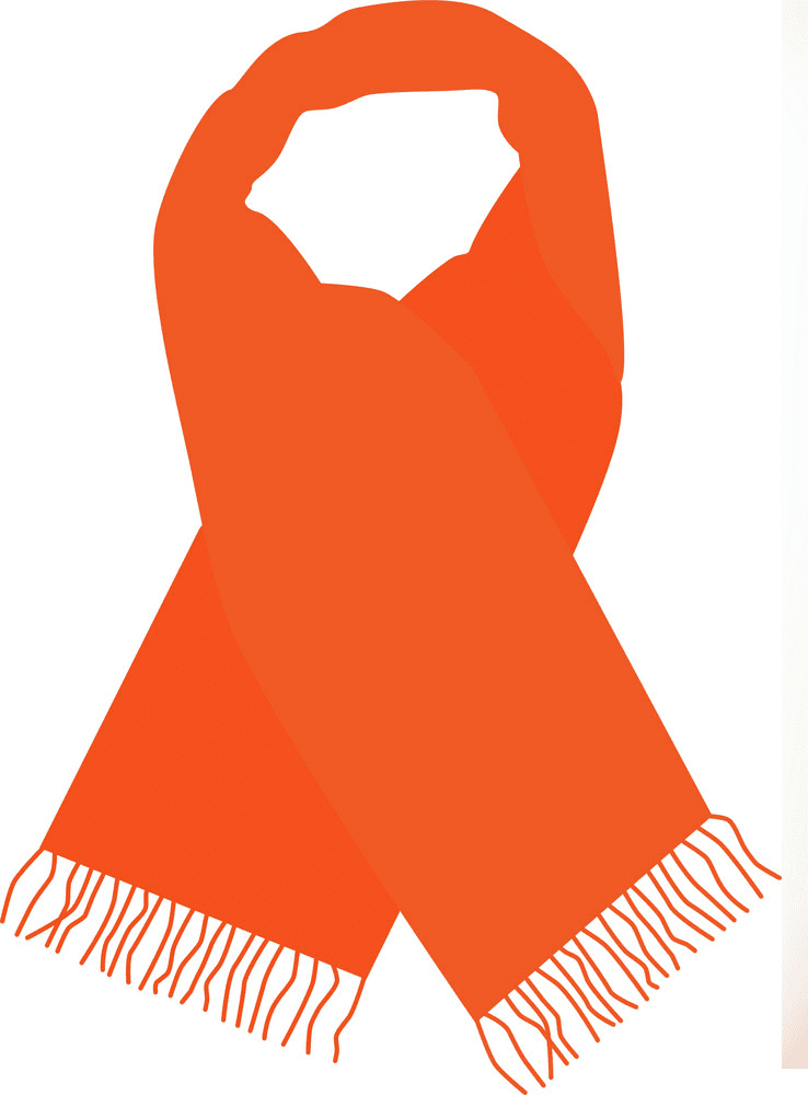 Scarf clipart for kid