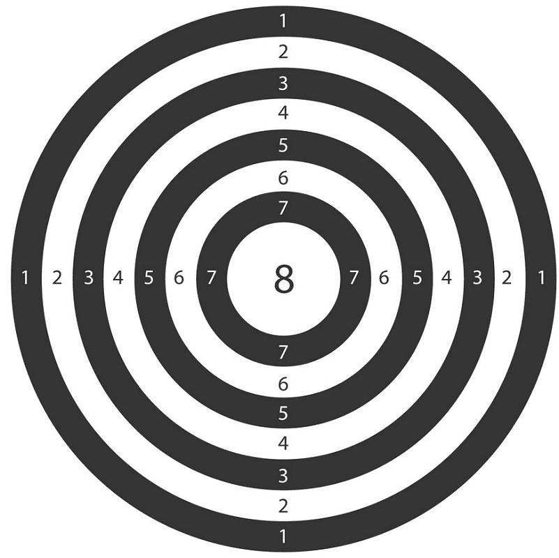 Shooting Target clipart free image