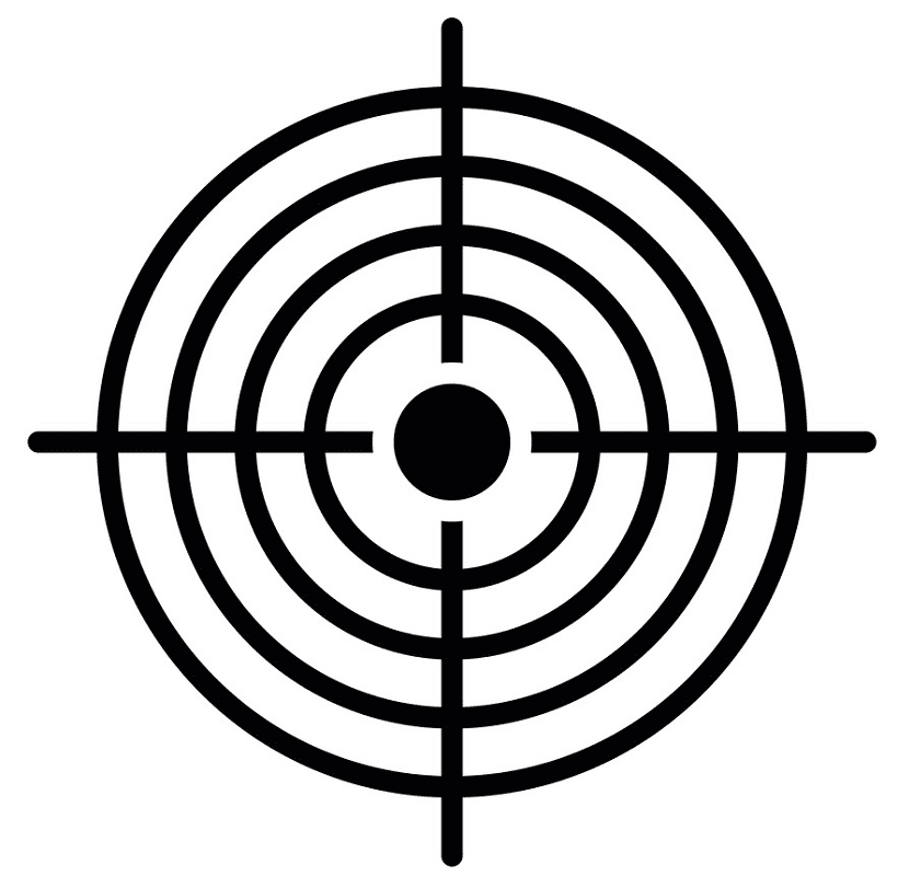 Shooting Target clipart free images