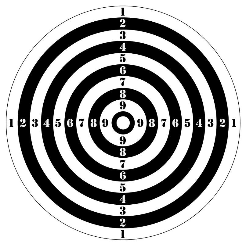 Shooting Target clipart png free