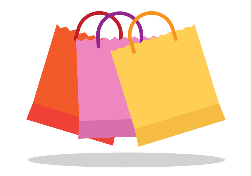 Shopping Bags clipart free