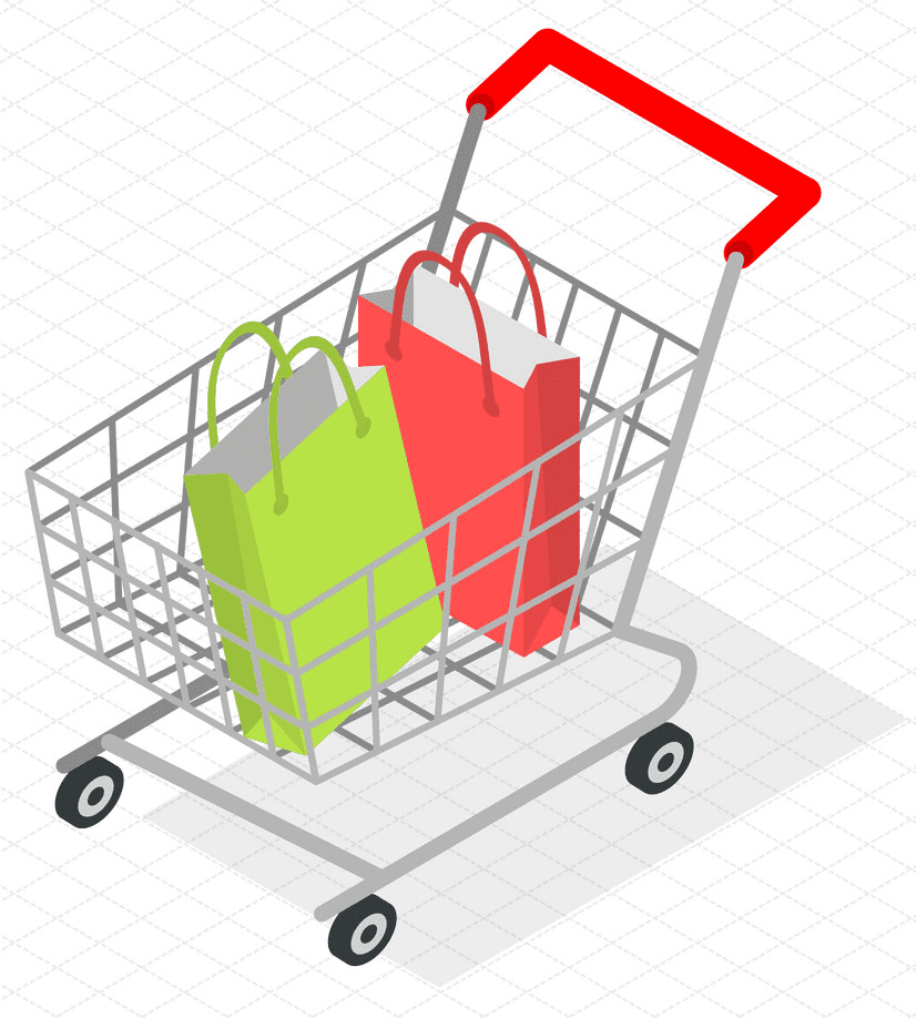 Shopping Cart clipart png for kid