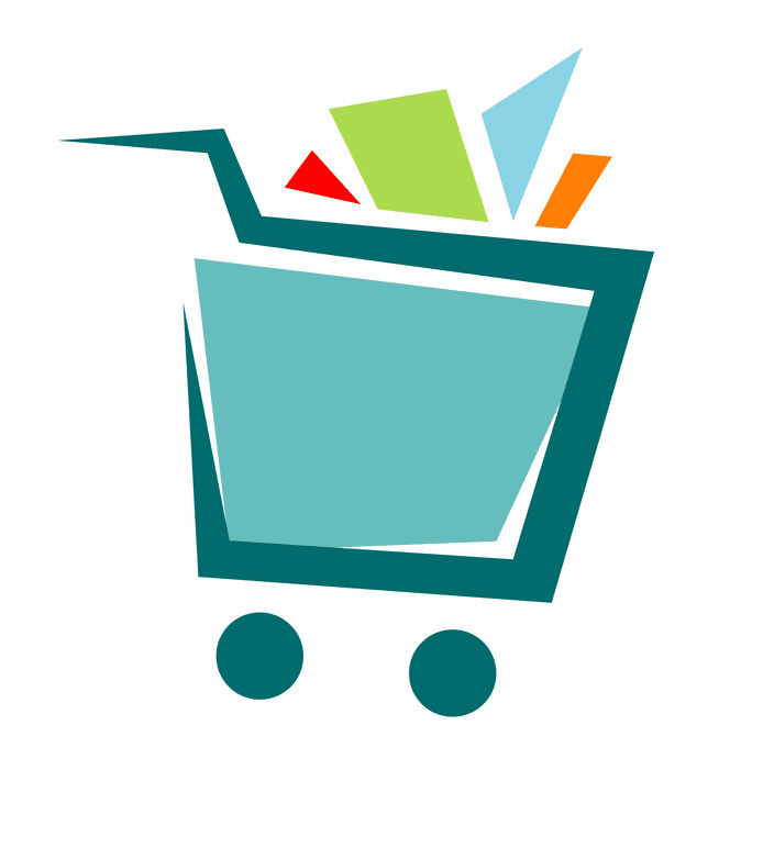 Shopping Cart clipart png for kids