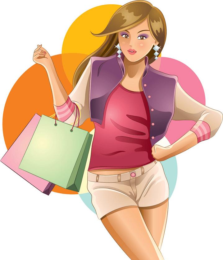 Shopping clipart for kids