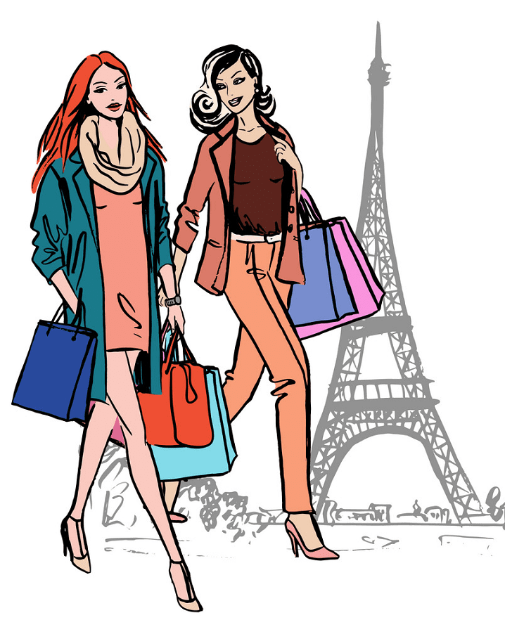 Shopping clipart free for kid