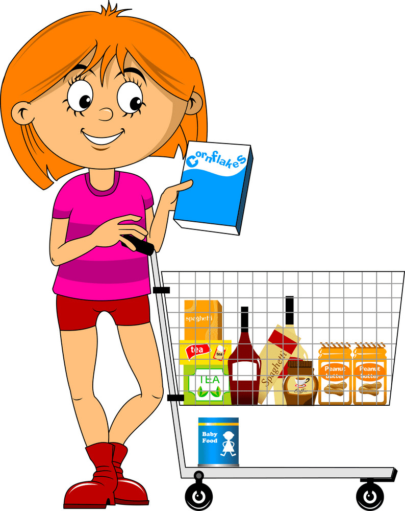 Shopping clipart free for kids