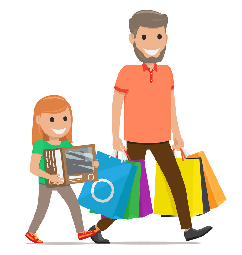 Shopping clipart free picture