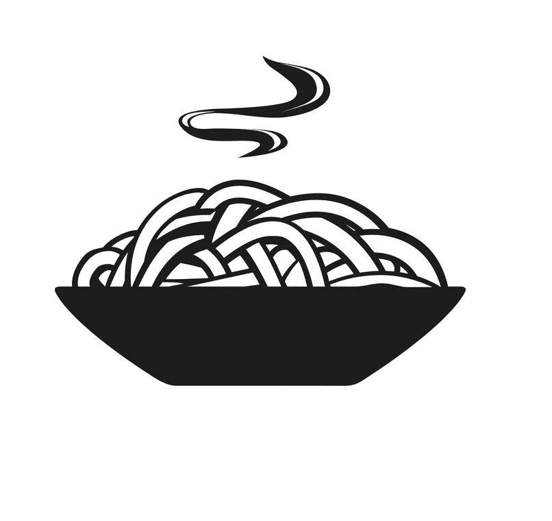 Spaghetti Clipart Black and White free