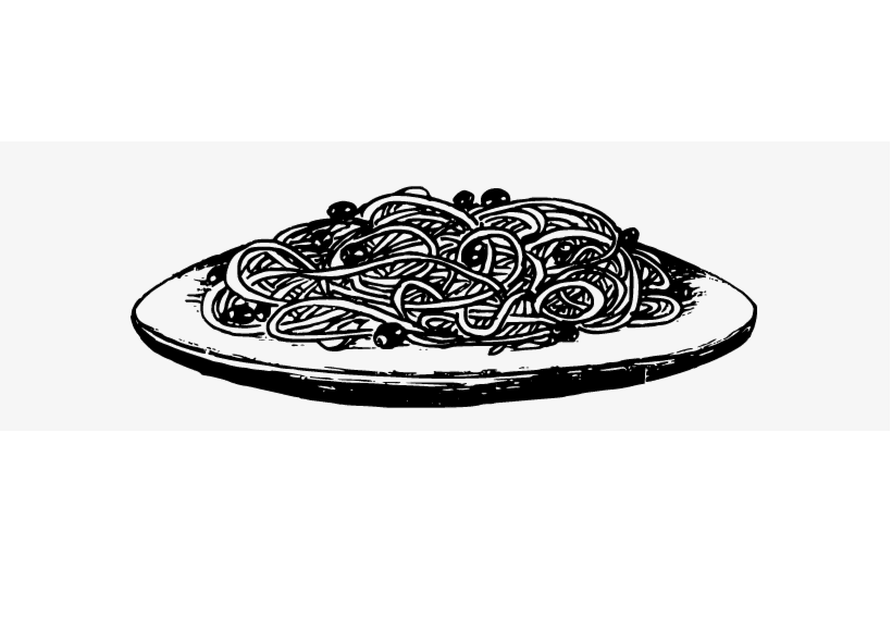 Spaghetti Clipart Black and White png image