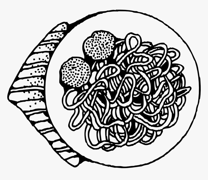 Spaghetti Clipart Black and White png images