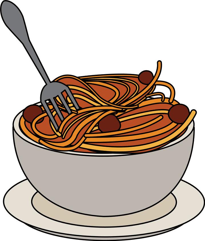 Spaghetti clipart free picture