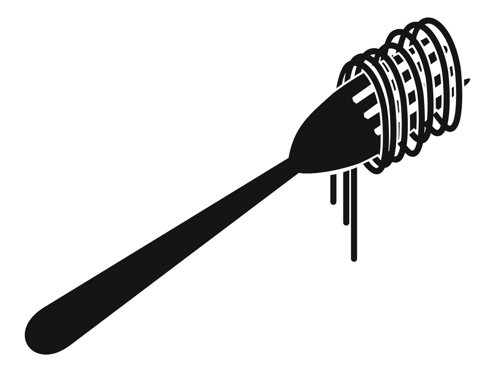 Spaghetti on Fork clipart for free
