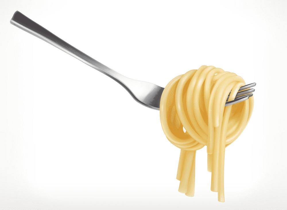 Spaghetti on Fork clipart free
