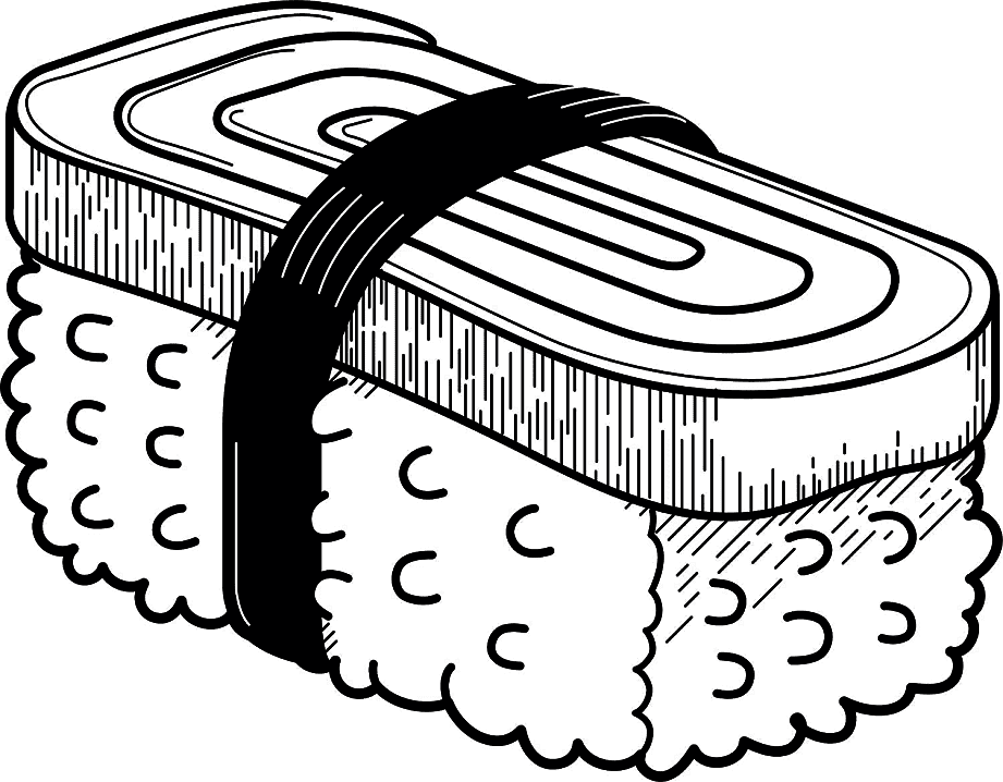 Sushi Clipart Black and White free images