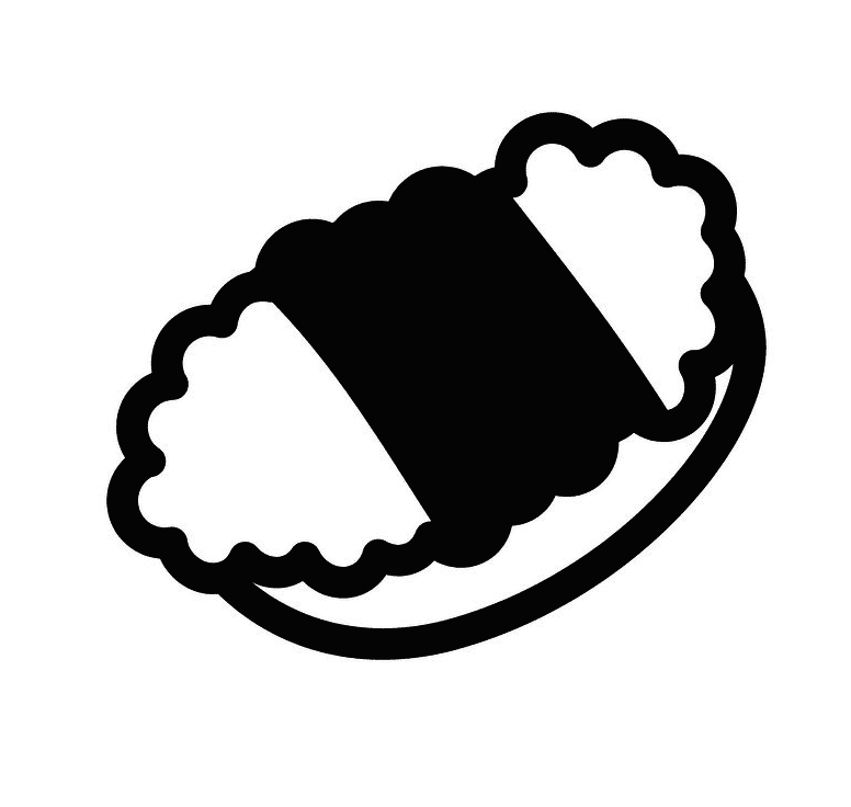 Sushi Clipart Black and White image