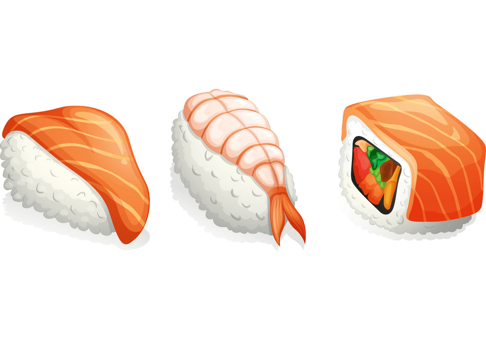 Sushi clipart free