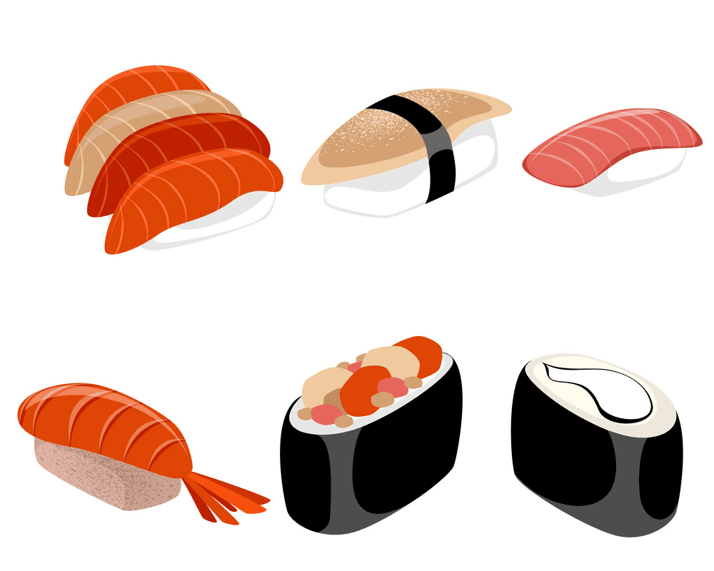 Sushi clipart images