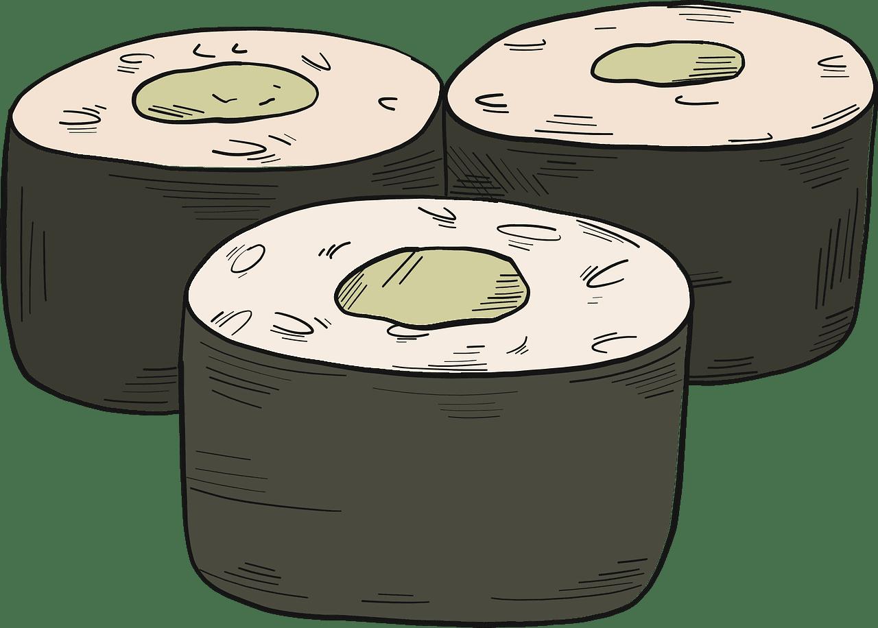 Sushi clipart transparent 6