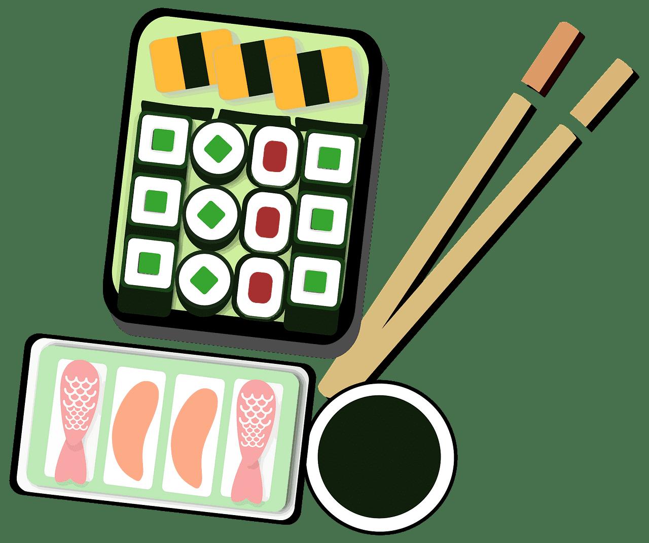 Sushi clipart transparent background 2