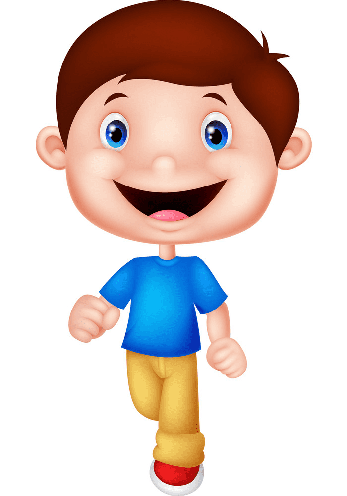 Walking clipart for kid