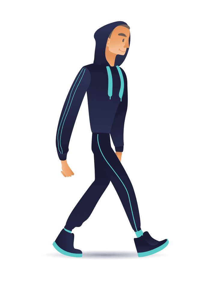 Walking clipart images