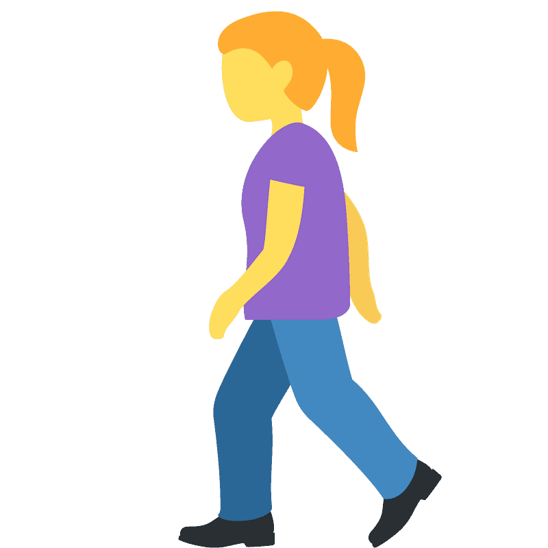 Walking clipart transparent 3