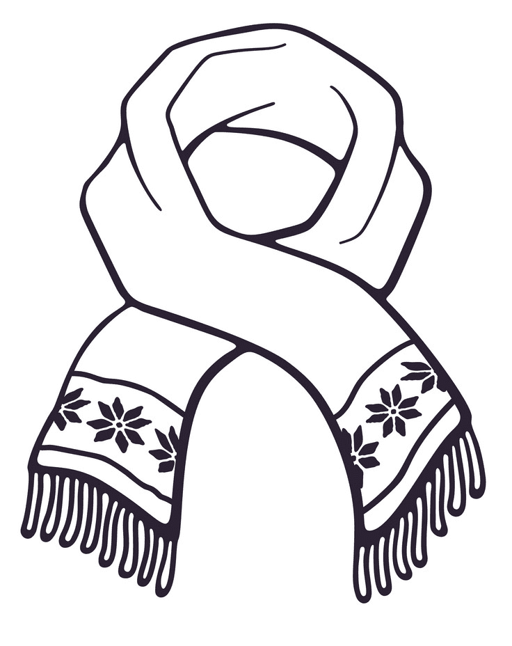 Winter Scarf clipart download