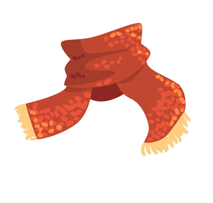 Winter Scarf clipart free for kid