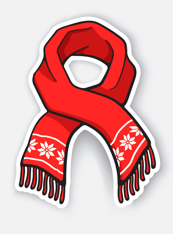Winter Scarf clipart free image