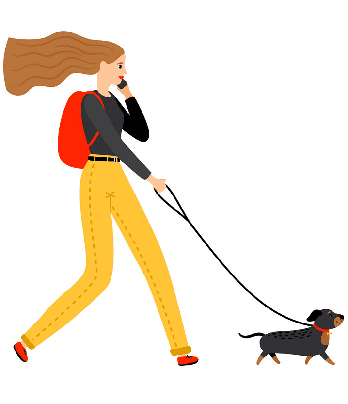 Woman Walking clipart for free