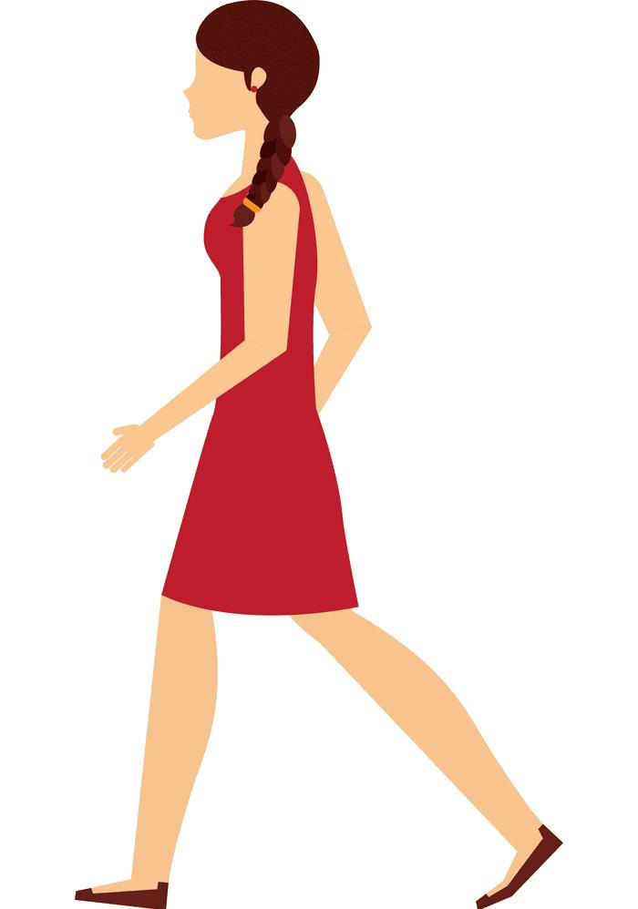 Woman Walking clipart free