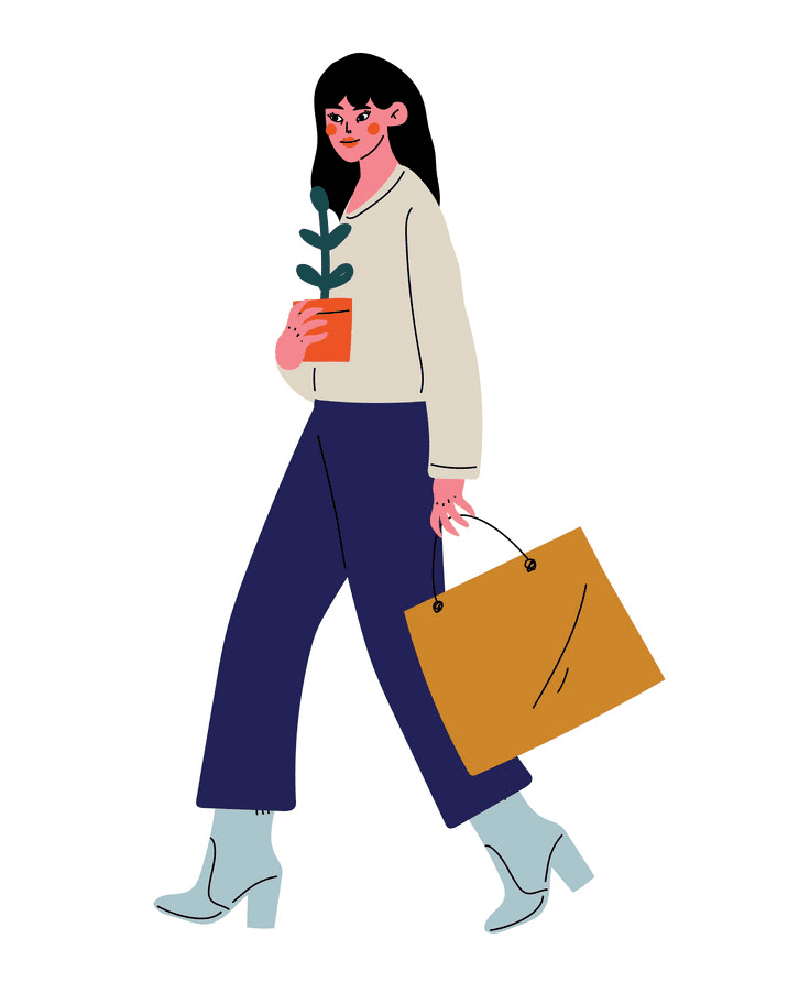Woman Walking clipart images
