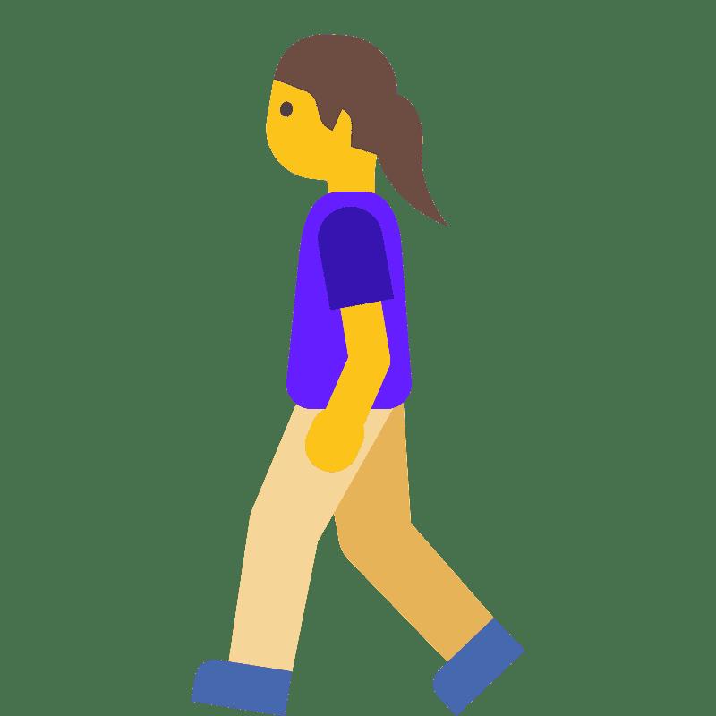 Woman Walking clipart transparent