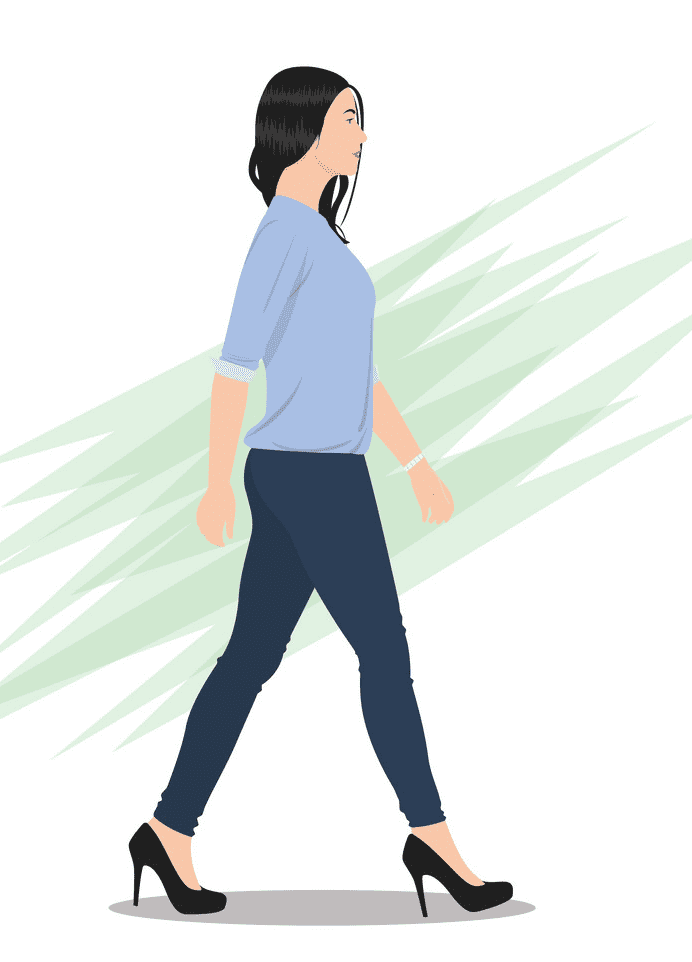 Woman Walking clipart