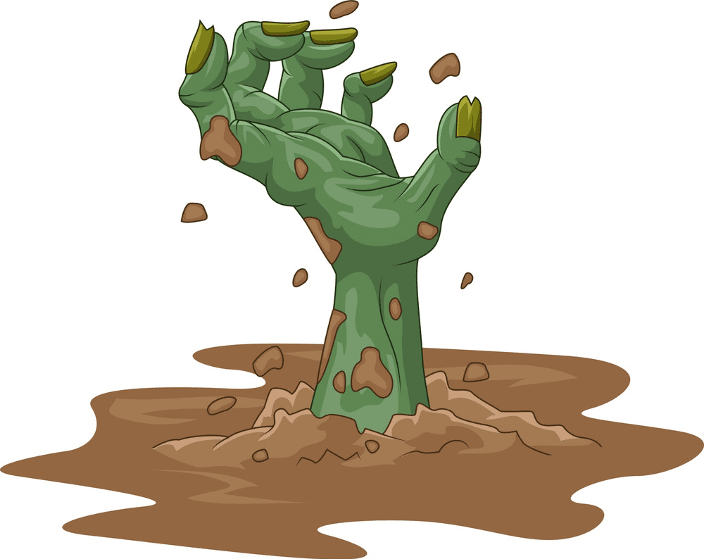 Zombie Hand clipart free images