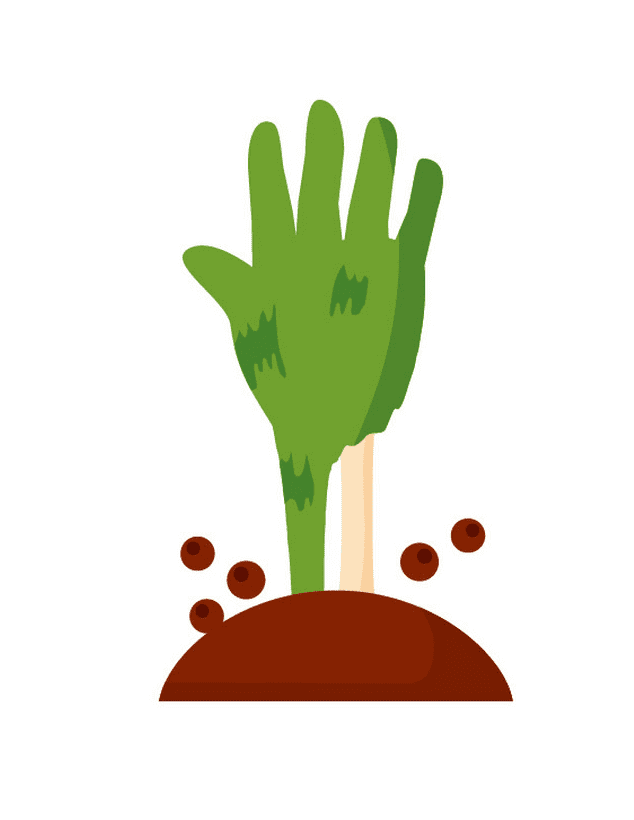 Zombie Hand clipart png free