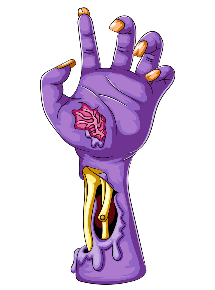 Zombie Hand clipart png
