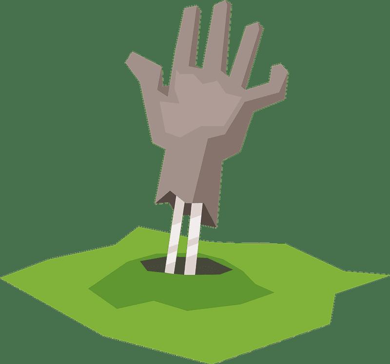 Zombie Hand clipart transparent