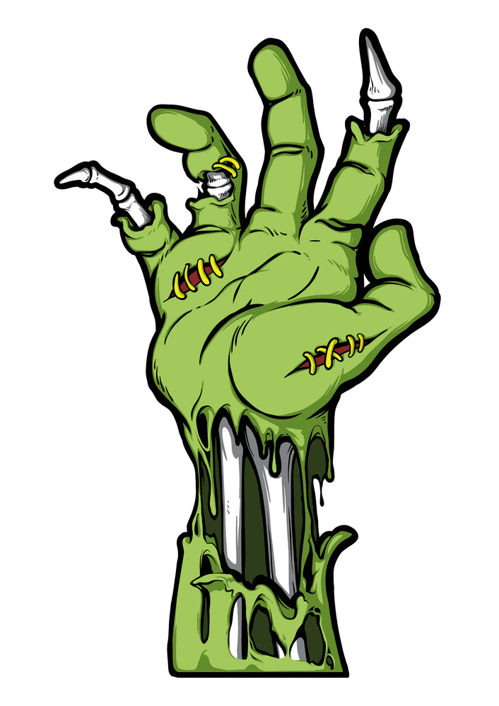 Zombie Hand clipart