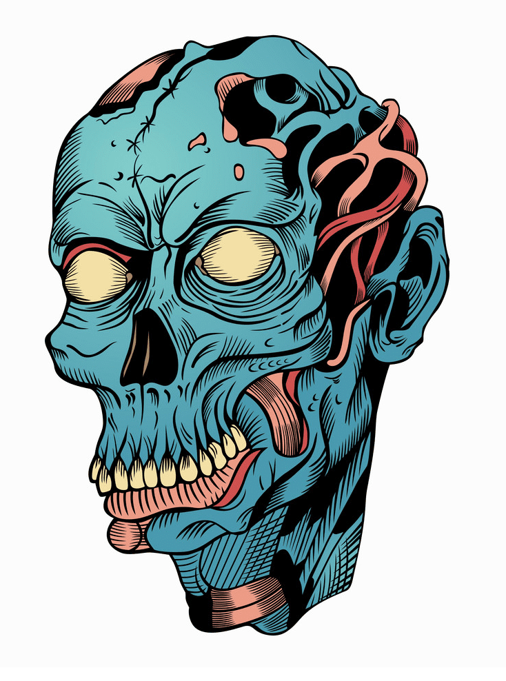 Zombie Head clipart download