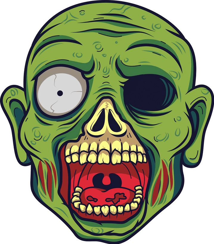 Zombie Head clipart for free