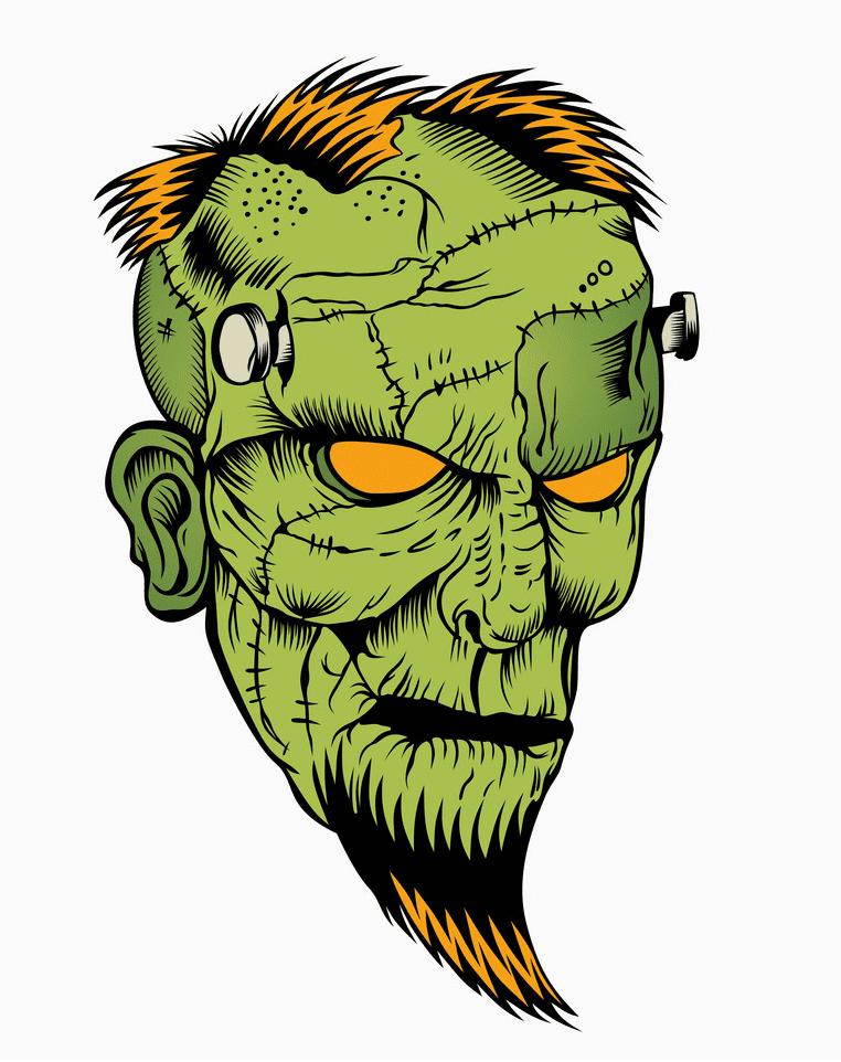 Zombie Head clipart image