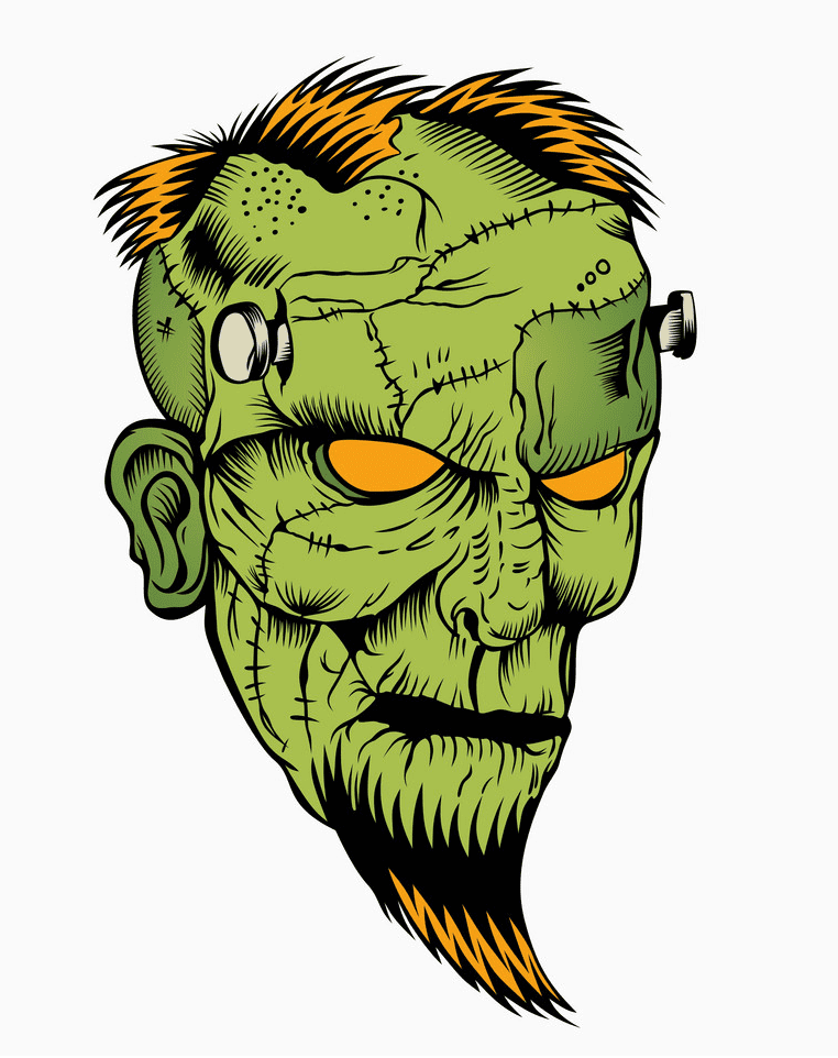 Zombie Head clipart images