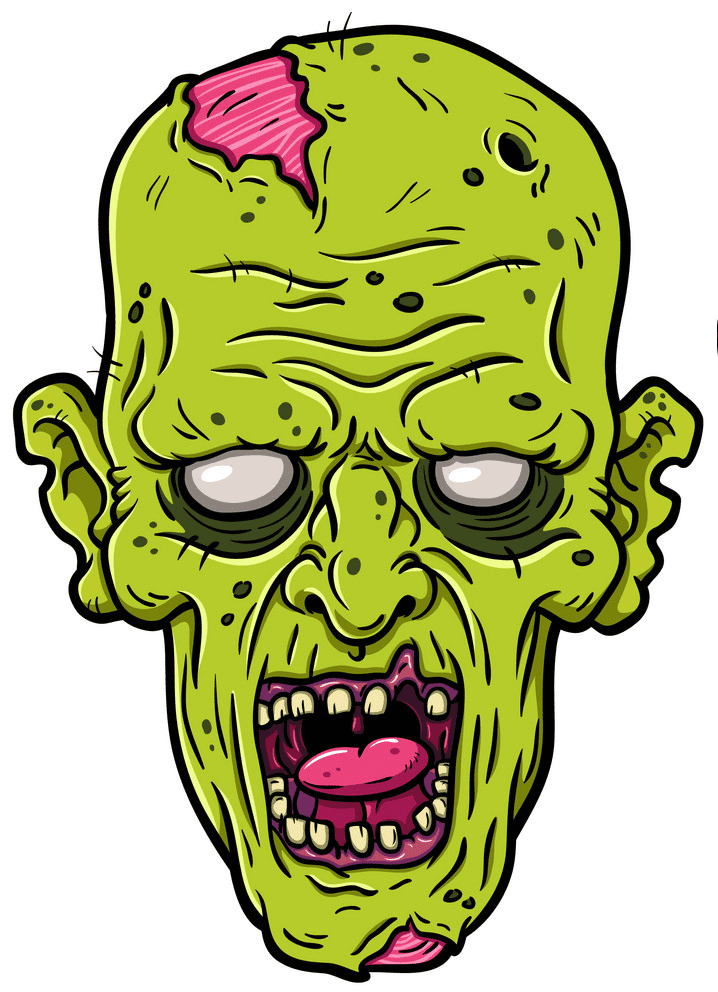 Zombie Head clipart png
