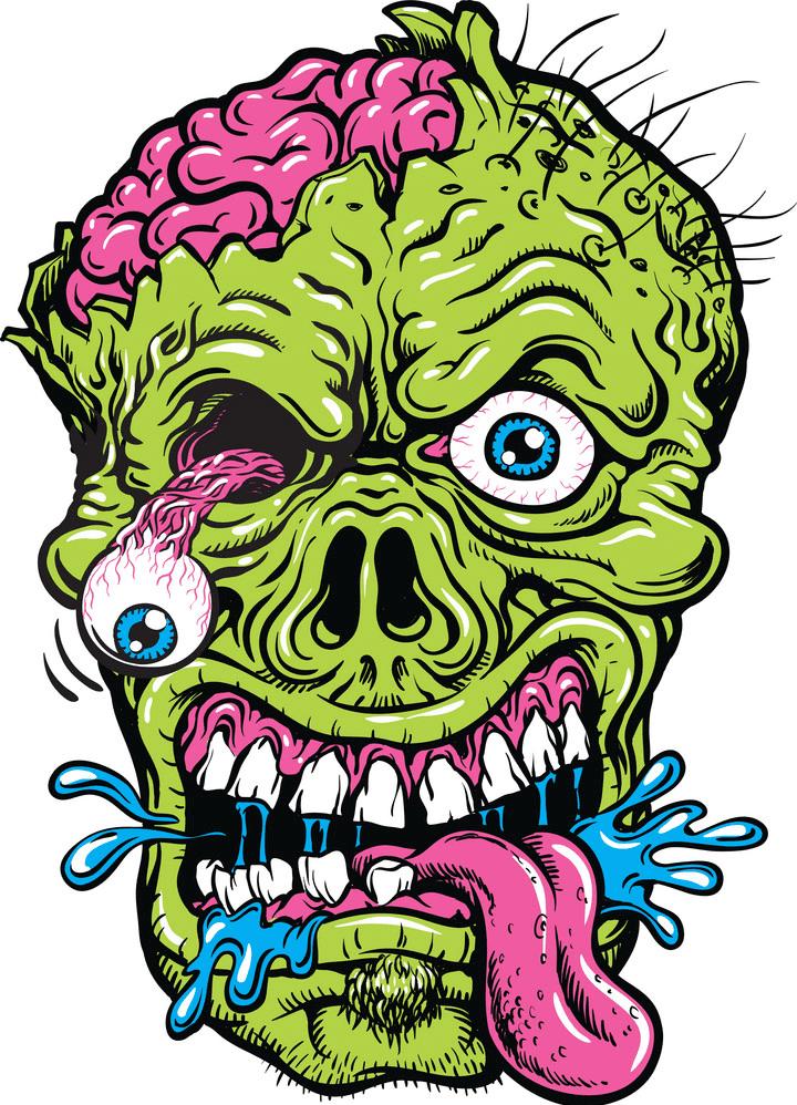 Zombie Head clipart
