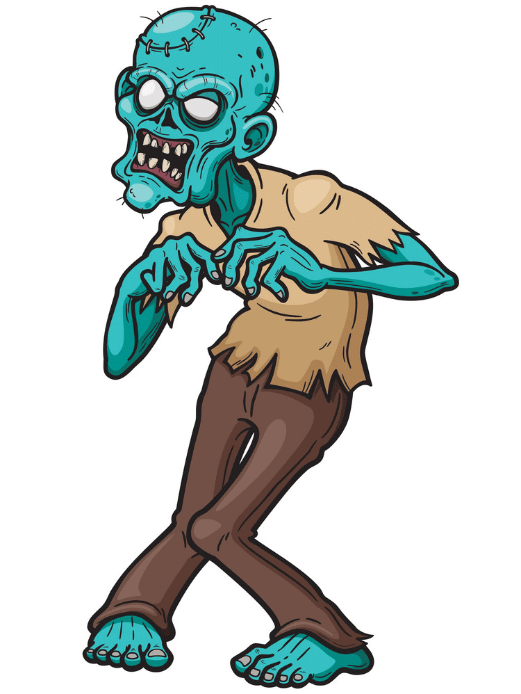 Zombie clipart for free