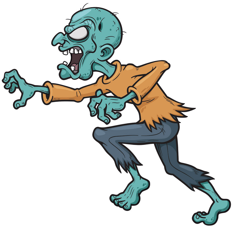 Zombie clipart for kid