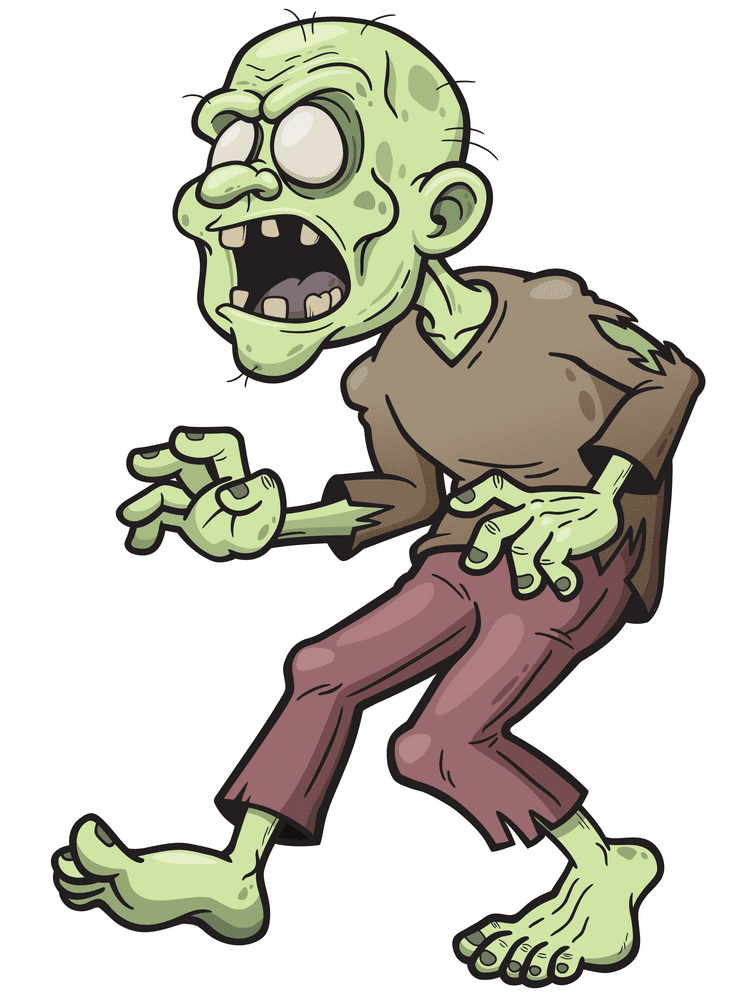 Zombie clipart for kids